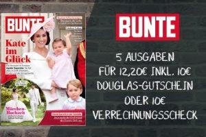 Lesen Sie aktuelle Schlagzeilen um Promis und Sternchen im Bunte Miniabo für sagenhaft günstige 2,20 EUR statt regulär 12,20 EUR.
