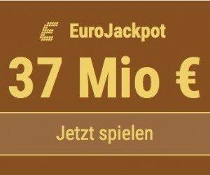Im EuroJackpot werden 37 Millionen EUR ausgespielt. Bei Tipp24 zahlen Neukunden nur 2,50 EUR statt 12,50 EUR für ihren ersten Tippschein. JETZT MITMACHEN!