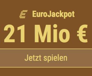 Im EuroJackpot werden 15 Millionen EUR ausgespielt. Bei Tipp24 zahlen Neukunden nur 2,50 EUR statt 12,50 EUR für ihren ersten Tippschein. JETZT MITMACHEN!