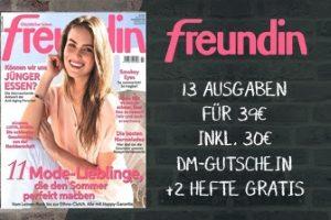 Jetzt Freundin Abo für nur 9 statt 39 Euro testen. Erhalten Sie ganze 13 Ausgaben mit Beiträgen über Mode, Beauty, Job und noch vieles mehr.