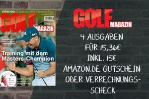 Für kurze Zeit gibt es 4 Ausgaben voller Informationen rund um den Golfsport im Golf Magazin Miniabo für gerade einmal 36 Cent - statt 15,36 EUR.