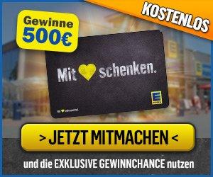 500 EUR Gutscheinkarte gewinnen: Freuen Sie sich mit ein wenig Glück auf einen Einkaufs-Gutschein in Höhe von 500 EUR - einfach 5 Fragen beantworten!
