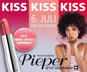 Die Parfümerie Pieper feiert den internationalen Tag des Kusses, und verlost zu diesem Anlass 150Artdeco Ombre Lippenstifte in der Farbe 43.