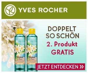 Bewerten Sie jetzt Ihr Yves Rocher Lieblings-Produkt, und gewinnen Sie eine von insgesamt 10 Yves Rocher Geschenk-Karten im Wert von je 50 EUR.