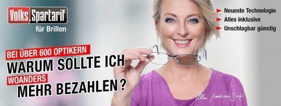 Jetzt können Sie mit dem Volks-Spartarif von brillen.de Ihre nächste Brille sofort abholen &bequem in Raten zahlen - ohne Extrakosten und in bester Qualität