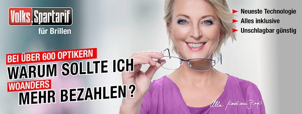 Jetzt können Sie mit dem Volks-Spartarif von brillen.de Ihre nächste Brille sofort abholen &bequem in Raten zahlen - ohne Extrakosten und in bester Qualität