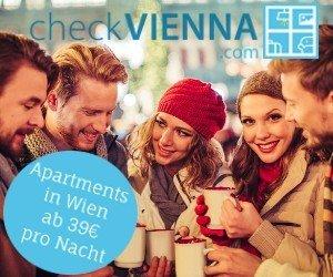 Schauen Sie jetzt gleich einmal bei CheckVienna.com vorbei, und sich die aktuellen TOP-Angebote fürFerienapartments in Wien.