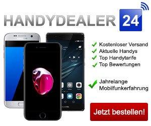 Handydealer24 ist Ihr Onlineshop für Smartphones, Verträge und Tarife. Sie finden stets günstige Angebote aus allen Netzen, tlw auch mit hohen Auszahlungen.