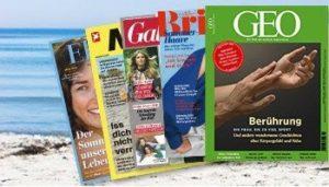 Die Zeitschrift Ihrer Wahl dank Prämien-Abo gibt es jetzt günstiger. Profitieren Sie von Gutscheinen im Wert von 135 EUR.