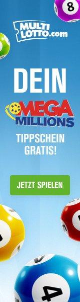 Ab sofort können Sie von Deutschland aus am USA Mega Millions-Lotto teilnehmen. Über uns erhalten Sie zum Einstieg sogar bis zu 5 Tippfelder KOSTENLOS!