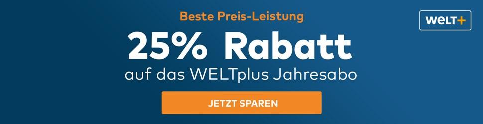 25% Rabatt bei WELTplus