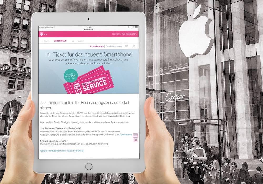 Über den Reservierungs-Service der Telekom können Sie das Apple iPhone X + iPhone 8 vorbestellen. Sie werden dann bevorzugt mit dem -Smartphone beliefert!