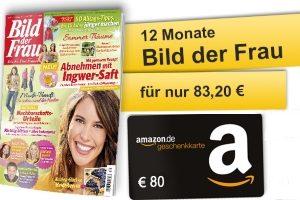 Zum Bild der Frau Abo erhalten Sie aktuell eine 80 EUR Amazon-Geschenkkarte - zur freien Verwendung. Lesen Sie jetzt 12 Monate alles aus der Welt der Stars.