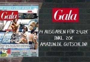 Limitiertes Angebot! Lesen Sie 14 Ausgaben Gala für effektiv 9,12 EUR. Sparen Sie 20 EUR und verpassen keine News aus der Welt der Promis.
