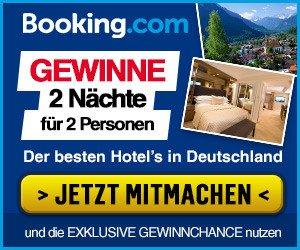 GEWINNEN Sie 2 Nächte in einem der besten Hotels in Deutschland für 2 Personen im Gesamtwert von 699,95 EUR. Einfach vier Fragen beantworten und mitspielen!