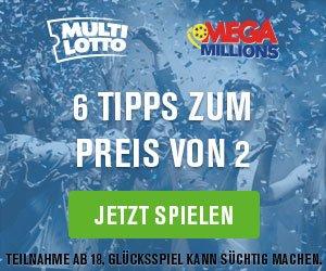 Knacken Sie von Deutschland aus den 78 Mio EUR- Jackpot im USA Mega Millions-Lotto. Über uns erhalten Sie zum Einstieg sogar bis zu 5 Tippfelder KOSTENLOS!