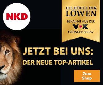 """Die 4. Staffel der Gründershow""""Die Höhle der Löwen"""" läuft, und bei NKD können Sie die Top-Artikel aus der Sendung bestellen!"""