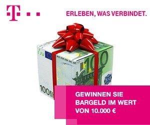 Jetzt beim Telekom-Gewinnspiel 10.000 Bargeld GEWINNEN! Egal welchen Wunsch Sie schon lange hegen - mit diesem Gewinn lässt er sich sicher erfüllen!