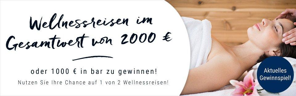 Gewinnen Sie jetzt mit Eduscho 2 Wellness-Reisen für 2 Personen im Wert von 1.000 EUR oder alternativ 1.000 in bar - Sie haben die Wahl!