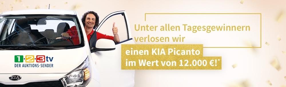 Beim 1-2-3 TV Gewinnspiel zum 13. Geburtstag des Auktionssenders ein Auto und attraktive Tagespreise in Form von Gutscheinen gewinnen.
