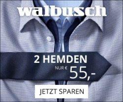 Bei der Walbusch 2 Hemden zum Preis von einem-Aktion erhalten Sie 2 Hemden zum Preis von 55 EUR - und das auch noch BÜGELFREI!