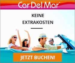 CarDelMar Mietwagen weltweit günstig ohne Stornierungskosten und ohne Extrakosten