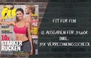Fit for Fun Abo jetzt günstiger mit 35 EUR Gutscheinprämie. 12 Ausgaben des Magazins lesen und Tipps & Tricks in Sachen Fitness & Lifestyle entdecken