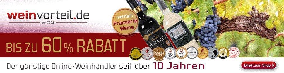 Top-Weine zu spektakulären Preisen erhalten Sie bei Weinvorteil.de. Nutzen Sie aktuelle Angebote bzw. unsere Rabatt und Gutschein-Codes beim Einkauf.