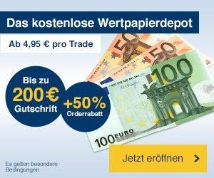 Jetzt ein 1822direkt Wertpapier-Depot anlegen und bis zu 200 EUR Prämie sichern. Profitieren Sie von diesem Angebot und legen Sie Ihr Wertpapier-Depot an.