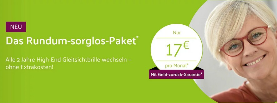 Rundum-Sorglos-Paket von brille.de für 17€/mtl