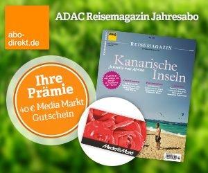 Erhalten Sie das ADAC Reisemagazin Abo dank Prämie nach Wahl und zusätzlichen 7,80 EUR Rabatt bei Zahlung per Bankeinzug kostenlos bzw. sogar mit Gewinn!