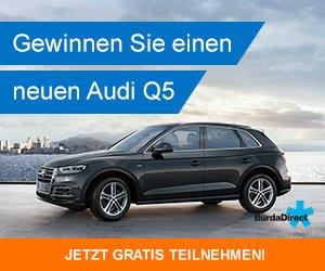 Jetzt kostenlos am großen Burda Direct-Gewinnspiel teilnehmen und mit etwas Glück einen Audi Q5 GEWINNEN; alternativ winken dem Gewinner 50.000 EUR in bar.