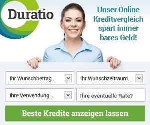 Duratio Kreditvergleich bietet Ihnen immer den besten Kredit - überzeugen Sie sich selbst und sichern Sie sich Ihren Kredit in Höhe von bis zu 120.000 EUR.