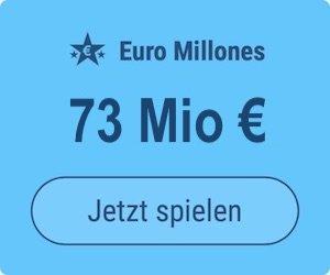 Freitag den Euro Millions-Jackpot knacken und 73 Mio. EUR gewinnen: Tipp24-Neukunden erhalten über uns 2 Tippfelder GESCHENKT = 6 EUR Rabatt!