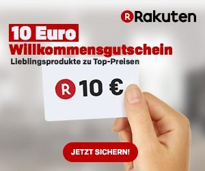 Jetzt bei Rakuten.de: 10 Euro geschenkt für Abonnenten des Newsletters. Sichern Sie sich aktuelle Infos rund um Angebote & Aktionen sowie diesen Coupon!