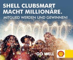 Shell-Gewinnspiel ClubSmart-Mitglied werden. Jede Transaktion nimmt teil, jeden Tag 1 Tagesgewinner!