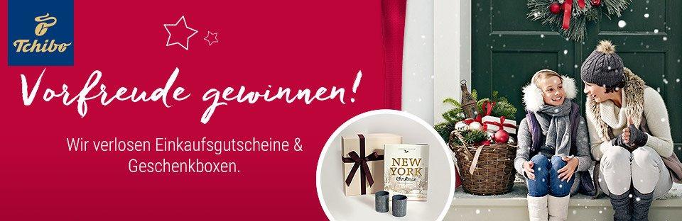 Gewinnen Sie mit Tchibo jetzt schon einen tollen Preis beim Weihnachts-Gewinnspiel - verlost werden Gutscheine und Geschenksets!