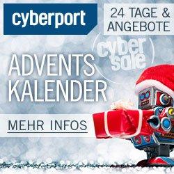 Cyberport Adventskalender-Gewinnspiel. Freuen Sie sich auf täglich wechselnde, spannende Technik-Preise im Wert von bis zu 949 EUR.