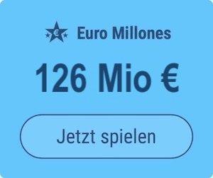 Freitag den Euro Millions-Jackpot knacken und 126 Mio. EUR gewinnen: Tipp24-Neukunden erhalten über uns 2 Tippfelder GESCHENKT = 6 EUR Rabatt!