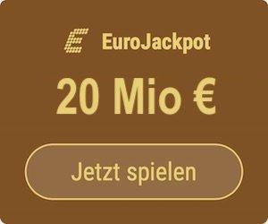 Freitag den EuroJackpot knacken und 20 Mio. EUR gewinnen: Tipp24-Neukunden erhalten über uns 5 Tippfelder GESCHENKT = 10 EUR Rabatt!