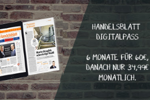 6 Monate Handelsblatt Digitalpass für nur 60 EUR statt 209,94 EUR. Lesen Sie aktuelle Nachrichten und Berichte rund um Finanzen und Wirtschaft.