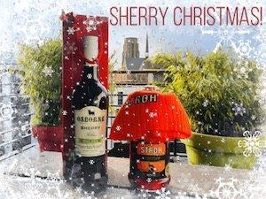 """Beim kostenlos.de-Gewinnspiel """"Sherry Christmas"""" jetzt eine Flasche Osborne Sherry Medium & eine Flasche STROH Jagertee GEWINNEN!"""