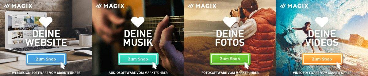 MAGIX-Software für Video, Musik + Foto: Mehr als 1.100 Auszeichnungen + 15 Millionen zufriedene Kunden! Hier TOP-Angebote sowie Rabatt und Gutschein-Codes.
