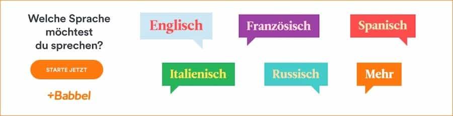 Testen Sie KOSTENLOS einen Babbel-Sprachkurs, z. B. spanisch, französisch, italienisch, englisch, portugiesisch oder schwedisch.