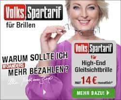 Jetzt können Sie mit dem Volks-Spartarif von brillen.de Ihre nächste Brille sofort abholen & bequem in Raten zahlen; ohne Extrakosten und in bester Qualität