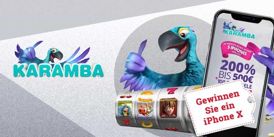Jetzt eines von 5 iPhone X GEWINNEN bei CasinoBonus360.de. Die Smartphone-Neuheit wird in Zusammenarbeit mit dem Karamba Online Casino verlost.