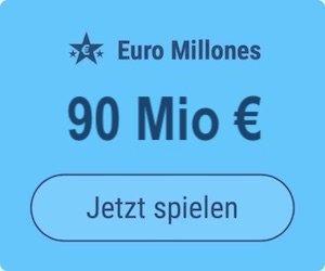 Freitag den Euro Millions-Jackpot knacken und 90 Mio. EUR gewinnen: Tipp24-Neukunden erhalten über uns 2 Tippfelder GESCHENKT = 6 EUR Rabatt!