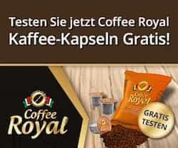 Jetzt gratis coffee Royal testen: Einfach eintragen und mit ein wenig Glück sind Sie einer von monatlich 100 Testern des leckeren Coffee Royal.