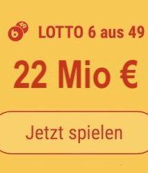 Samstag den Lotto 6 aus 49-Jackpot knacken und 4 Mio. EUR gewinnen: Tipp24-Neukunden erhalten über uns 5 Tippfelder GESCHENKT = 5,50 EUR Rabatt!