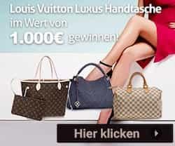 Handtasche im Wert von 1000 EUR zu gewinnen! Hier wird eine Louis Vuitton Handtasche verlost, lassen Sie sich diese Chance nicht entgehen!